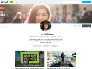 Vimeo channel for Love2Video